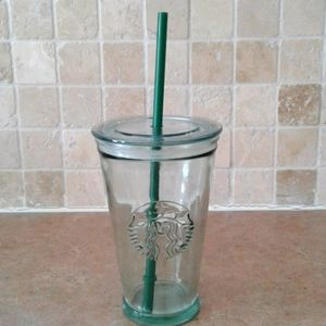 Starbucks recycled glass cold to go glass tumbler